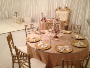 chiavari chair rental los angeles-gold love seat-tent draping chandelier rental