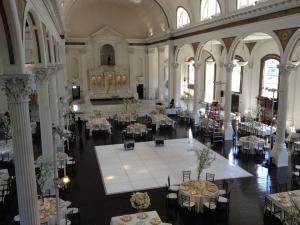 white dance floor rental los angeles --vibiana downtown