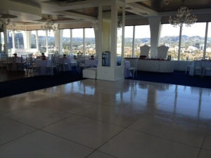 White dance floor rental los angeles
