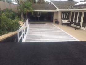 plexi glass pool cover -clear dance floor over pool (long beach CA)