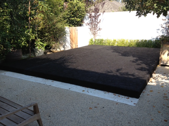 Platform Pool Cover staging--Hard pool covers -we can turn your swimming pool into an event space dance floor los angeles san diego
