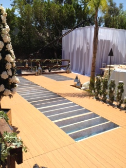 dance floor pool cover rental
