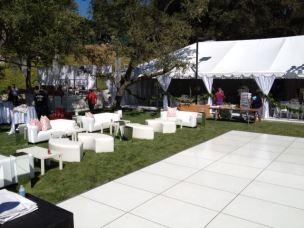 White Lounge Furniture rental Los angeles Wedding setup