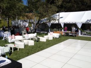 White Lounge Furniture rental Los angeles Wedding setup