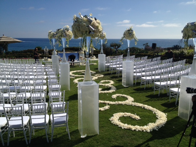 white chiavari chair for ceremony in new port beach