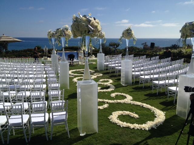 white chiavari chair for ceremony in new port beach