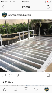 Plexi glass Acrylic pool cover rental Los Angeles