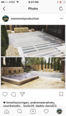 Plexi glass Acrylic pool cover rental Los Angeles