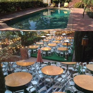 before and after platform hard temporary and permanent pool covers for event weddings