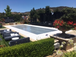 Plexi Glass Clear Dance Floor on top of Pool 26x70'