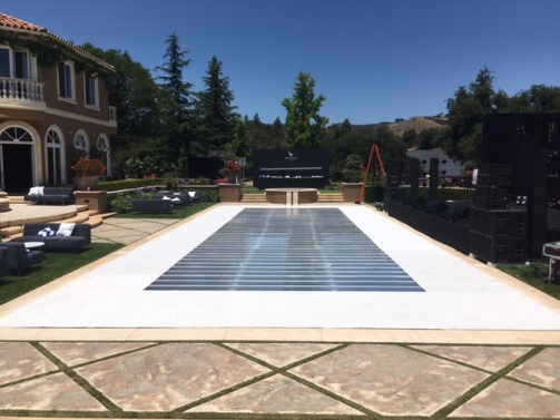 Plexi Glass Clear Dance Floor on top of Pool