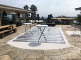 Flush clear staging over pool in Los Angeles