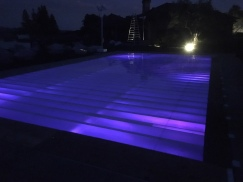 Plexi glass pool cover dance floor Healdsburg CA