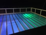 Acrylic/plexiglass dance floor pool cover for a wedding in Santa Rosa CA