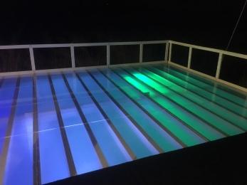 Acrylic/plexiglass dance floor pool cover for a wedding in Santa Rosa CA